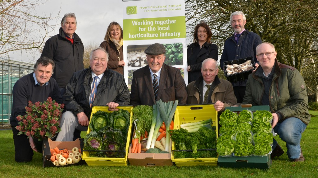 Horticulture Forum members with a range of produce